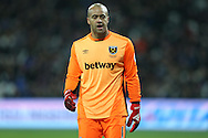 Goalkeeper Darren Randolph of West Ham United looking on. Premier league match, West Ham Utd v Manchester Utd at the London Stadium, Queen Elizabeth Olympic Park in London on Monday 2nd January 2017.<br /> pic by John Patrick Fletcher, Andrew Orchard sports photography.
