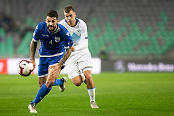 Giorgs Merkis of Cyprus during football match between National Teams of Slovenia and Cyprus in Final Tournament of UEFA Nations League 2019, on October 16, 2018 in SRC Stozice, Ljubljana, Slovenia. Photo by Urban Urbanc / Sportida