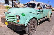 Taxi in Gibara, Holguin, Cuba.
