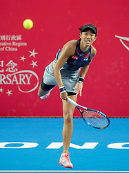 October 12, 2017 - Hong Kong, Hong Kong, China - Zhang Shuai  in action.Hong Kong Tennis Open 2017 Zhang Shuai vs Jennifer Brady. Jennifer Brady proves more than a match for top Chines seeded player Zhang Shuai winning 6-3 6-4 (Credit Image: © Jayne Russell via ZUMA Wire)