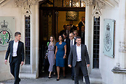 Businesswoman and campaigner Gina Miller leaves the Supreme Court after the first day of the hearing to rule on the legality of suspending or proroguing Parliament begins on September 17th 2019 in London, United Kingdom. The ruling will be made by 11 judges in the coming days to determine if the action of Prime Minister Boris Johnson to suspend parliament and his advice to do so given to the Queen was unlawful. (photo by Mike Kemp/In Pictures via Getty Images)