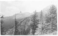 Modern-day view of Lizard Head Peak.  As it apperar after a Dec. 28, 1911 landslide.<br /> RGS  Lizard Head, CO