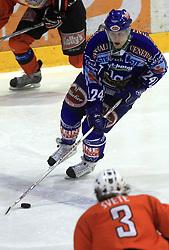 Gunter Lazinger (24) at ice hockey match Acroni Jesencie vs EC Pasut VSV. in EBEL League,  on November 23, 2008 in Arena Podmezaklja, Jesenice, Slovenia. (Photo by Vid Ponikvar / Sportida)