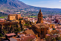 The town of Loja with the Encarnation Church on right, Granada Province, Andalusia, Spain.