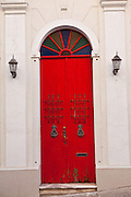 Colorful doorway of Old San Juan, Puerto Rico