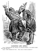 """Gallipoli - and After? Sultan. """"Congratulate me, William. No English remain. I've driven them all into the sea!"""" Kaiser. """"Very careless of you. Why, THAT'S THEIR ELEMENT!"""""""
