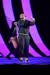 Headie One performs during the Brit Awards 2021 at the O2 Arena, London. Picture date: Tuesday May 11, 2021.