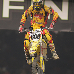 14 March 2009: Mike Alessi (800) gains air during the Monster Energy AMA Supercross race at the Louisiana Superdome in New Orleans, Louisiana