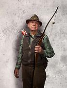 Senior Man Bow Hunter.