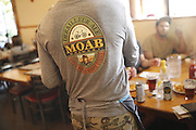 SHOT 5/7/16 4:12:33 PM - Moab is a city in Grand County, in eastern Utah, in the western United States. Moab attracts a large number of tourists every year, mostly visitors to the nearby Arches and Canyonlands National Parks. The town is a popular base for mountain bikers and motorized offload enthusiasts who ride the extensive network of trails in the area. Includes images of Scenic Byway 128, Fisher Towers and downtown Moab. (Photo by Marc Piscotty / © 2016)