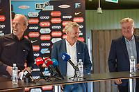 Fotball , 8. august 2020 , ny Brann - trener Kåre Ingebrigtsen og sportslig leder Rune Soltvedt og styreleder i SK Brann ,  Leder: Eivind Lunde