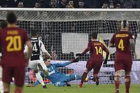 Parata di Wojciech Szczesny su Patrik Schick . <br /> Wojciech Szczesny saves a shot of Patrik Schick .<br /> Torino 23-12-2017 Allianz  Stadium Calcio Serie A Juventus - Roma foto Image Sport/Insidefoto