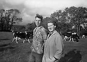 Farm Animals and People in Kanturk, Co. Cork and Castleisland, Co. Kerry. Mrs. O'Leary and her son James..10.09.1965