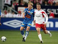 Fotball , 14. april 2007 , Tippeligaen , Fredrikstad - Lyn 3-1<br /> Patrik Gerrbrand  , FFK og Tomasz Sokolowski , Lyn
