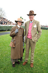 VISCOUNT & VISCOUNTESS MARCHWOOD at the 2008 Hennessy Gold Cup held at Newbury racecourse, Berkshire on 29th November 2008.<br /> <br /> NON EXCLUSIVE - WORLD RIGHTS