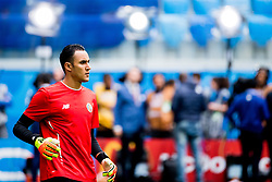 June 22, 2018 - Sankt Petersburg, Russia - 180622 Goalkeeper Keylor Navas of Costa Rica during warm-up ahead of the FIFA World Cup group stage match between Brazil and Costa Rica on June 22, 2018 in Sankt Petersburg..Photo: Petter Arvidson / BILDBYRÃ…N / kod PA / 92075 (Credit Image: © Petter Arvidson/Bildbyran via ZUMA Press)