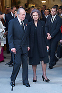 033114 Spanish Royals attend Adolfo Suarez state funeral, leaves