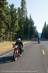 Doug Jones during Stage 16 (142 miles) of the Motorcycle Cannonball Cross-Country Endurance Run, which on this day ran from Yakima to Tacoma, WA, USA. Sunday, September 21, 2014.  Photography ©2014 Michael Lichter.