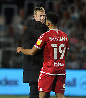 Football - 2020 / 2021 Sky Bet Championship - Queens Park Rangers vs Bristol City - The Kiyan Prince Foundation Stadium<br /> <br /> Bristol City manager, Dean Holden celebrates with Adrian Mariappa at the final whistle<br /> <br /> <br /> COLORSPORT/ANDREW COWIE