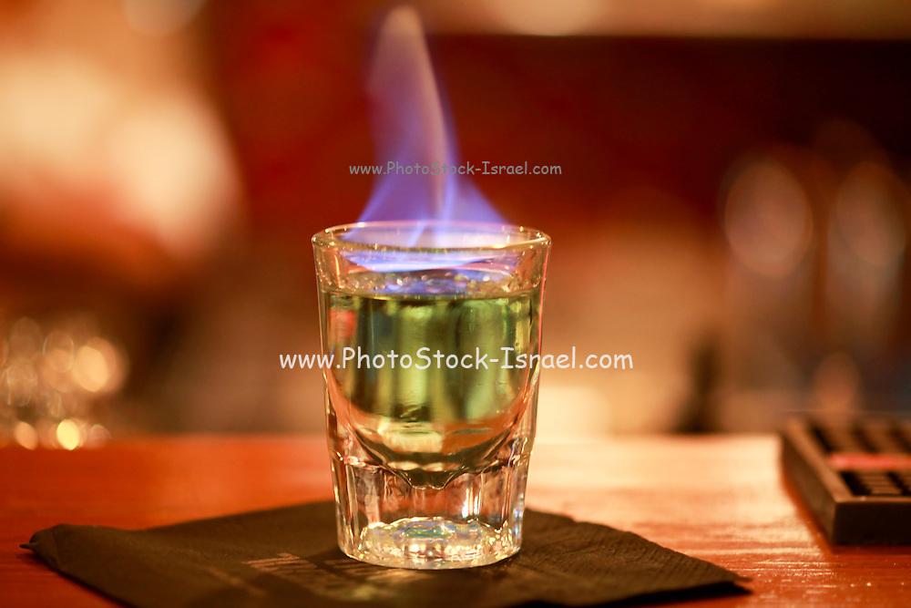 Flaming alcohol