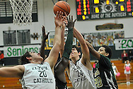 Ursuline at Elyria Catholic boys varsity basketball on February 22, 2014. Images © David Richard and may not be copied, posted, published or printed without permission.