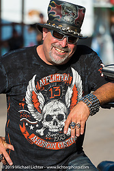 Krazy J Kiefer at the annual Black Hills Motorcycle Rally. Sturgis, SD, USA. August 8, 2014.  Photography ©2014 Michael Lichter., 2014.
