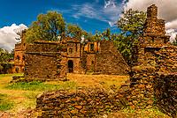 Castle of Emperor Dawit III, Fasil Ghebbi, Gondar, Ethiopia.