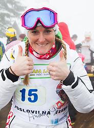 Janica Kostelic during last race of Andrej Jerman, Slovenian best downhill skier when he finished his professional alpine ski career on April 6, 2013 in Krvavec Ski resort, Slovenia. (Photo By Vid Ponikvar / Sportida)