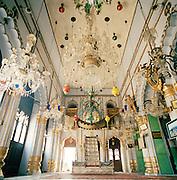 Interior of Chhota (small) Imambara built in 1837 as an ornate mausoleum for the ruler Nawab Mohammed Ali Shah, Lucknow, Uttar Pradesh, India