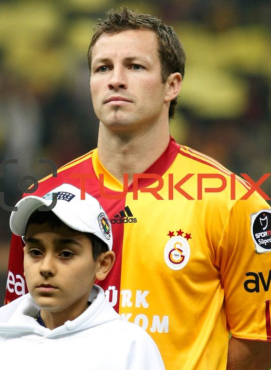 Galatasaray's Lucas NEILL during their Turkish superleague soccer derby match Galatasaray between Fenerbahce at the Turk Telekom Arena in Istanbul Turkey on Friday, 18 March 2011. Photo by TURKPIX