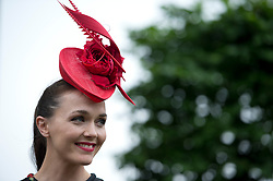 © London News Pictures. 20/06/2013. Ascot, UK.  Victoria Pendleton at Ladies Day on day three of Royal Ascot at Ascot racecourse in Berkshire, on June 20, 2013.  The 5 day showcase event,  which is one of the highlights of the racing calendar, has been held at the famous Berkshire course since 1711 and tradition is a hallmark of the meeting. Top hats and tails remain compulsory in parts of the course. Photo credit should read: Ben Cawthra/LNP