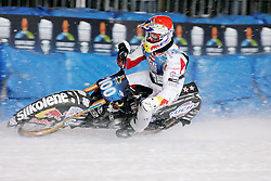 13.03.2016, Assen, BEL, FIM Eisspeedway Gladiators, Assen, im Bild Franz Zorn (AUT) // during the Astana Expo FIM Ice Speedway Gladiators World Championship in Assen, Belgium on 2016/03/13. EXPA Pictures © 2016, PhotoCredit: EXPA/ Eibner-Pressefoto/ Stiefel<br /> <br /> *****ATTENTION - OUT of GER*****