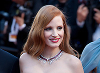 Actress Jessica Chastain at the opening ceremony and Ismael's Ghosts (Les Fantômes D'ismaël) gala screening,  at the 70th Cannes Film Festival Wednesday May 17th 2017, Cannes, France. Photo credit: Doreen Kennedy