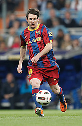 16-04-2011 VOETBAL: REAL MADRID - BARCELONA: MADRID<br /> Lionel Messi<br /> ©2011-RHP/ EXPA/ Alterphotos/ ALFAQUI/ Cesar Cebolla<br /> *** NETHERLANDS ONLY ***