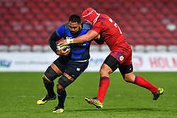 Isileli Nakajima of Japan is tackled by Anton Sychev of Russia <br /> <br /> Photographer Craig Thomas<br /> <br /> Japan v Russia<br /> <br /> World Copyright ©  2018 Replay images. All rights reserved. 15 Foundry Road, Risca, Newport, NP11 6AL - Tel: +44 (0) 7557115724 - craig@replayimages.co.uk - www.replayimages.co.uk