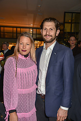 21 November 2019 - Davina Harbord and Freddie Streeter at the launch of Sam's Riverside Restaurant, 1 Crisp Walk, Hammersmith hosted by owner Sam Harrison, Edward Taylor and Jack Brooksbank.<br /> <br /> Photo by Dominic O'Neill/Desmond O'Neill Features Ltd.  +44(0)1306 731608  www.donfeatures.com