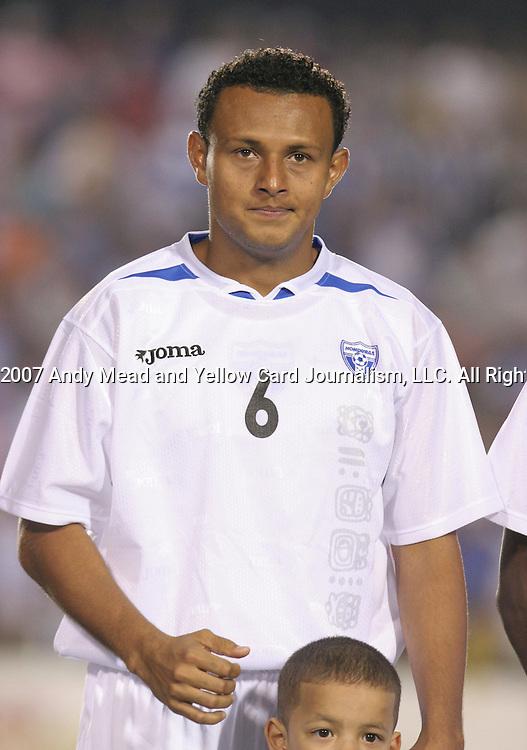 Honduras's Sergio Mendoza on Tuesday, March 27th, 2007 at SAS Stadium in Cary, North Carolina. The Honduras Men's National Team defeated El Salvador 2-0 in a men's international friendly.