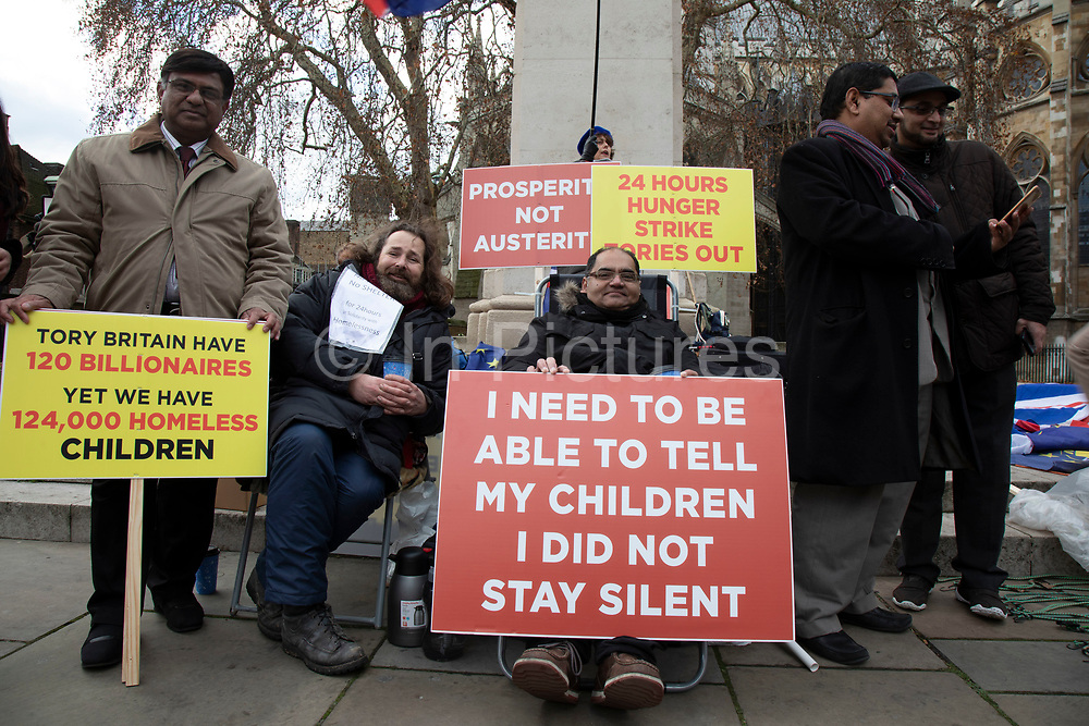 Anti Brexit pro Europe demonstrators protest and placards in Westminster on 12th December 2018 in London, England, United Kingdom.