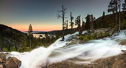 """""""Eagle Falls at Emerald Bay 3"""" - Photograph taken at sunset of Eagle Falls and Emerald Bay, Lake Tahoe."""