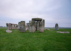 © Licensed to London News Pictures. 01/12/2014. Wiltshire, UK . General view of Stonehenge.  British Prime Minister Nick Clegg visits The World Heritage Site of Stonehenge in Wiltshire today 1st December 2014. A tunnel passing Stonehenge is among dozens of new road schemes announced by the government, as part of £15bn of improvements to England's roads.. Photo credit : Stephen Simpson/LNP