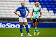 Birmingham City forward  Libby Smith (12) during the FA Women's Super League match between Birmingham City Women and Brighton and Hove Albion Women at St Andrews, Birmingham United Kingdom on 12 September 2021.