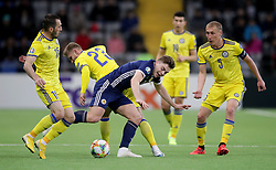 Scotland's James Forrest (centre) in action during the UEFA Euro 2020 Qualifying, Group I match at the Astana Arena.