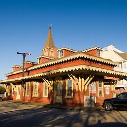 Train depot in Wolfeboro, New Hampshire.