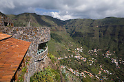 Restaurant Mirador del Palmerejeo, Valle Gran Rey, La Gomera, Canary Islands. Designed by architect César Manrique.