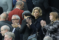 Businesswoman Amanda Staveley in the stands during the Premier League match at St James' Park, Newcastle.