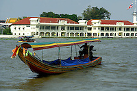 Chao Phrya River, Longtail Boat - In Bangkok, the Chao Phraya is a major transportation artery for a vast network of ferries and water taxis, also known as longtails. More than 15 boat lines operate on the river and canals of the city, including commuter ferry lines.