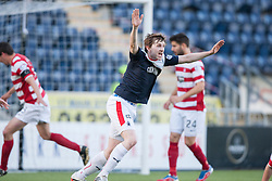 Falkirk's Blair Alston shouts for a penalty.<br /> Falkirk 1 v 1 Hamilton, Scottish Premiership play-off semi-final first leg, played 13/5/2014 at the Falkirk Stadium.