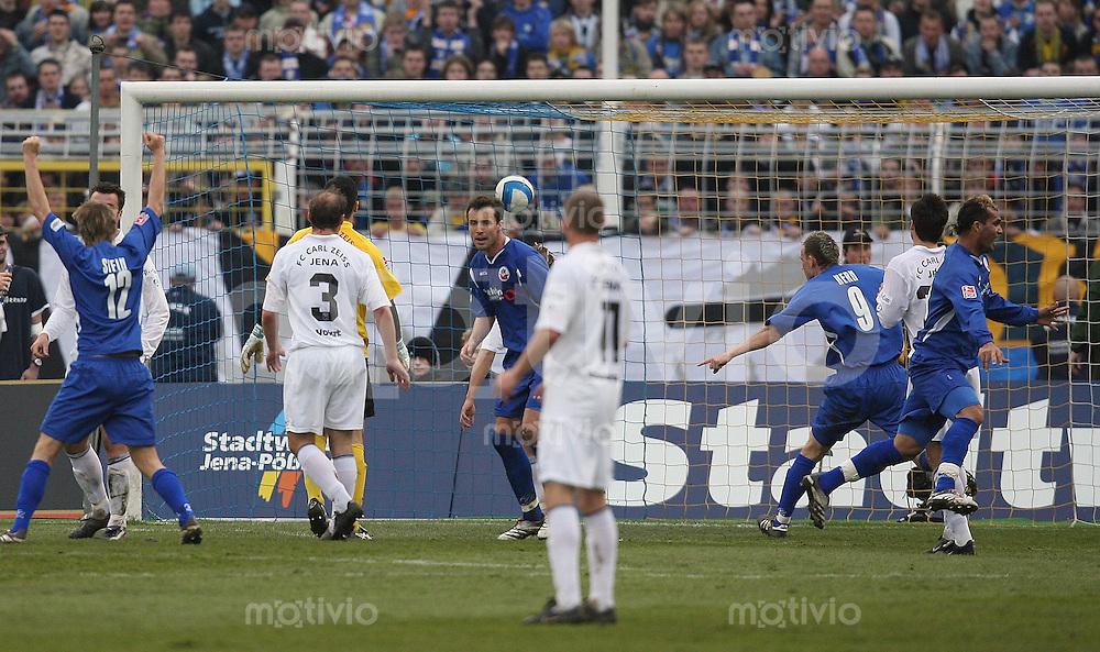 Jena , 300307 , Saison 2006/2007 ; Fussball 2.Bundesliga FC Carl Zeiss Jena - Hansa Rostock  Gledson DA SILVA MENEZES (Rostock) erzielt das 0:1