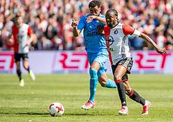 14-05-2017 NED: Kampioenswedstrijd Feyenoord - Heracles Almelo, Rotterdam<br /> In een uitverkochte Kuip pakt Feyenoord met een 3-0 overwinning het landskampioenschap / Miquel Nelom #18