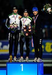 31-10-2009 SCHAATSEN: NK AFSTANDEN: HEERENVEEN<br /> Ireen Wust wint de 3000 meter en Renate Groenewold wordt tweede en Diane Valkenburg derde<br /> ©2009-WWW.FOTOHOOGENDOORN.NL